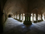 Cistercian Abbey Cloister, Fontenay, Marmagne, Doubs, Burgundy, France, Europe Photographic Print by  Godong