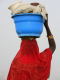 Woman Carrying a Bowl on Her Head, Saint Louis, Senegal, West Africa, Africa Photographic Print by  Godong