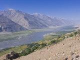 Pamir River, Wakhan Valley, the Pamirs, Tajikistan, Central Asia Fotografisk trykk av Michael Runkel