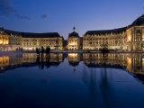 Place De La Bourse at Night, Bordeaux, Aquitaine, France, Europe Photographic Print by Charles Bowman
