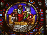 Stained Glass Window of the Miracle of Fishing, Lyon, Rhone, France, Europe Photographic Print by  Godong