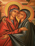 Greek Orthodox Icon Depicting the Visitation, Thessaloniki, Macedonia, Greece, Europe Photographic Print by  Godong