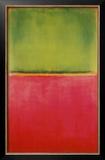 Verde, vermelho sobre laranja Posters por Mark Rothko