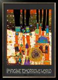 Imagine Tomorrows World (orange) Pôsters por Friedensreich Hundertwasser