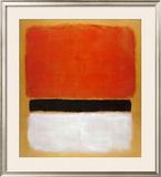 Untitled (Red, Black, White on Yellow), 1955 Posters por Mark Rothko