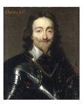 Portrait of Charles I Gicléetryck av Sir Anthony Van Dyck