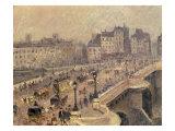 Pont Neuf - Brouillard, 1902 Reproduction procédé giclée par Camille Pissarro