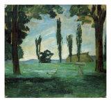 Paysage Reproduction procédé giclée par Paul Cézanne