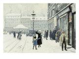 The Osterbrogade in Winter, 1918 Gicléetryck av Paul Gustav Fischer