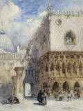 The Doge's Palace and the Piazzetta, Venice Giclee Print by William Callow