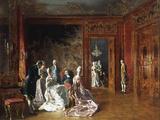 Reunion D'Elegantes Giclee Print by Johann Hamza