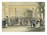 The Pump Room, Bath, 1796 Giclée-tryk af John Nixon
