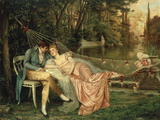 A Romantic Interlude Giclee Print by Joseph Frederic Soulacroix