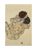 Umarmung (Embrace), 1917 Premium Giclée-tryk af Egon Schiele