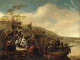 Christ Preaching to the Multitude Lámina giclée por Jacob Willemsz De Wet