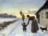 The Arrival of the Christmas Tree Giclee Print by Hans Anderson Brendekilde