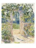 La Porte du Jardin, Vetheuil, 1881 Giclee Print by Claude Monet