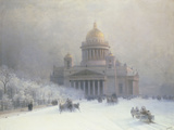 St Isaac's Cathedral, St Petersburg Reproduction procédé giclée par Ivan Konstantinovich Aivazovsky