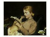 Blond and Brunette, 1879 Giclée-tryk af Charles Burton Barber