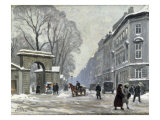 The Kongenshave in Winter Gicléetryck av Paul Gustav Fischer