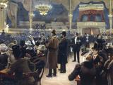 At the Music Hall in the Cirkus Bygningen, Jernbaneegade, Copenhagen, 1891 Gicléetryck av Paul Gustav Fischer