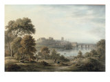 View of Chester Giclee Print by John Glover