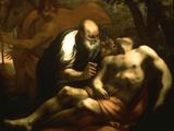 The Good Samaritan Giclée-tryk af Antonio Zanchi