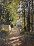 Allee sous-bois en Normandie, 1882 Giclée-tryk af Gustave Caillebotte