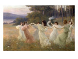 Dancing Maidens Giclee Print by Leopold Franz Kowalsky