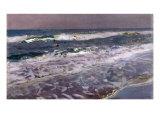 Efecto de Manana en el Mar (Valencia), 1908 Lámina giclée por Joaquín Sorolla y Bastida