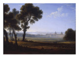 Greenwich Looking Towards the Thames Giclee Print by John Glover
