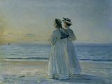 Two Women on the Beach at Skagen, 1908 Gicléetryck av Michael Peter Ancher