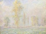 La Prairie a Giverny, 1888 Giclée-Druck von Claude Monet