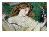 Drømme, på engelsk Giclée-tryk af Frederick William Burton