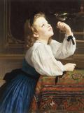 L'Oiseau Cheri, 1867 Giclée-tryk af William Adolphe Bouguereau