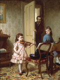 A Rehearsal on the Sly, 1875 Giclee Print by Ernest Gustave Girardot