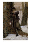 The Snowball Fight, c.1870 Giclee Print by James Hayllar