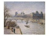 Le Louvre, 1901 Reproduction procédé giclée par Camille Pissarro