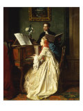 The Music Lesson, 1858 Giclee Print by Jean Carolus