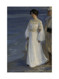 Marie Kroyer on the Beach Giclee Print by Peder Severin Kröyer