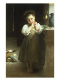 Mauvaise Ecoliere, 1871 Reproduction procédé giclée par William Adolphe Bouguereau
