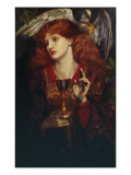 The Damsel of the Sanct Grail, 1874 Giclee-trykk av Dante Gabriel Rossetti