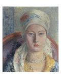 A Portrait of Julia Strachey, 1928 Gicléetryck av Dora Carrington