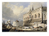 The Doge's Palace, Venice Giclée-tryk af Samuel Prout