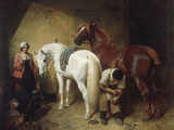 Shoeing Imaum, 1856 Giclée-tryk af John Frederick Herring