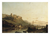 A View of Heidelberg and the River Neckar Giclee Print by Francois Antoine Bossuet