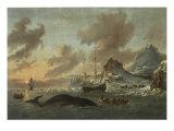 Shipping in a Choppy Sea Giclée-Druck von Arnoldus Van Anthonissen