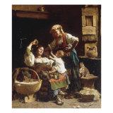 Teasing the Baby Giclee Print by Pietro Saltini