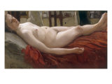 Female Nude (Wife of the artist) Giclee Print by B.M. Kustodiev