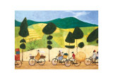 Rush Hour on the Road to Lushoto Poster von Sam Toft